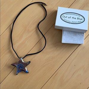 Starfish glass necklace